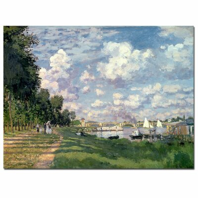 "Trademark Fine Art ""The Marina at Argenteuil, 1872"" Canvas Art"