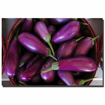 "Trademark Fine Art ""Eggplants"" by Kurt Shaffer Photographic Print on Canvas"