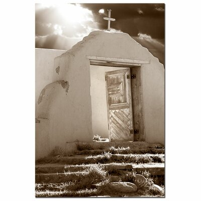 "Trademark Fine Art ""Church on a Highroad"" by Aiana Photographic Print on Canvas"