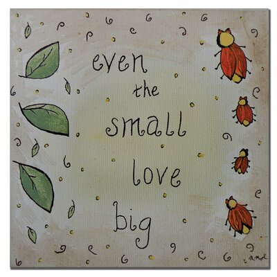 "Trademark Fine Art ""Love Bug"" by Nicole Dietz Painting Print on Canvas"