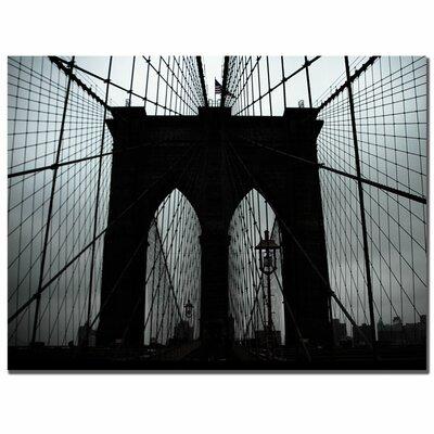 "Trademark Fine Art ""Brooklyn Bridge"" by Tammy Davison Photographic Print on Canvas"