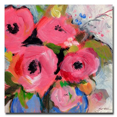 'Bouquet in Pink' by Sheila Golden Painting Print on Canvas