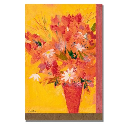'Bouquet with Yellow II' by Sheila Golden Painting Print on Canvas