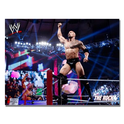 Trademark Fine Art 'WWE The Rock' Canvas Art