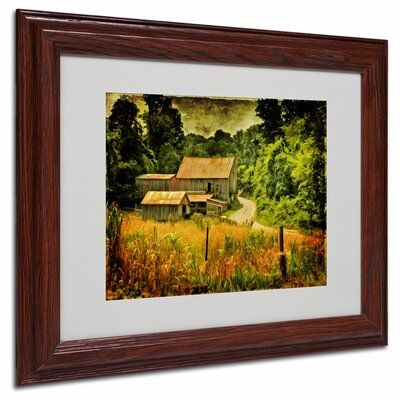 "Trademark Fine Art ""Country Road in Summer"" Matted Framed Art"