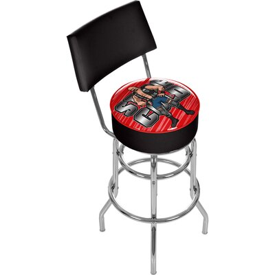 WWE Kids Padded Bar Stool with Back