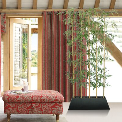 Laura Ashley Home Gray 8' Silk Bamboo Tree Screen with ...