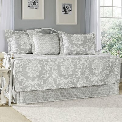 Venetia Gray 5-Piece Quilted Daybed Set