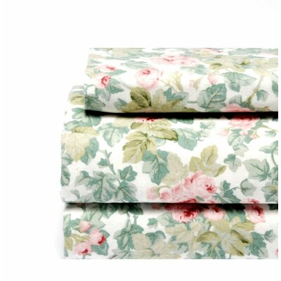 Laura Ashley Home Cottage Rose Flannel Sheet Set