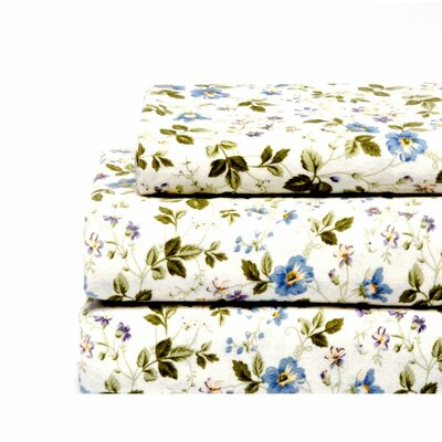 Spring Bloom Flannel Sheet Set for Sale | Wayfair