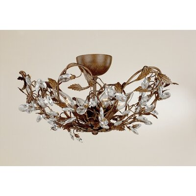 Laura Ashley Home Freya 4 Light Flush Mount