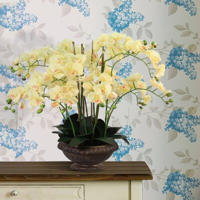 Tall High End Lifelike Silk Orchid Arrangement with Planter