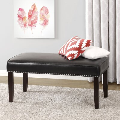 Rowan Nailhead Trim Upholstered Bedroom Bench