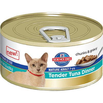 Hill's Science Diet Mature Adult Tender Tuna Dinner Wet Cat Food