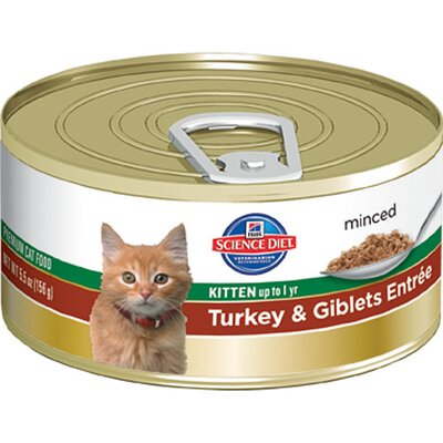 Hill's Science Diet Kitten Turkey and Giblets Entrée Wet Cat Food (5.5-oz)