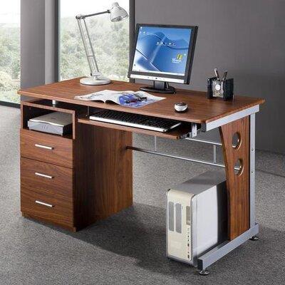 Techni Mobili Computer Desk with Side Cabinet