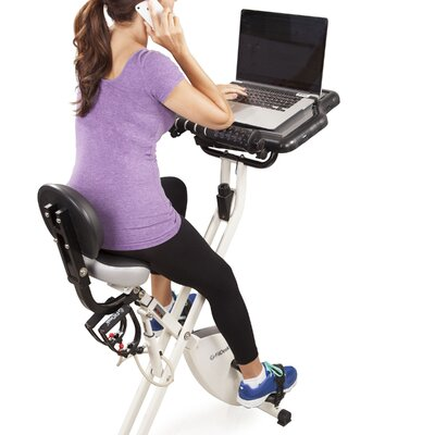 FitDesk X2.0 Semi Recumbent Bike with Desk