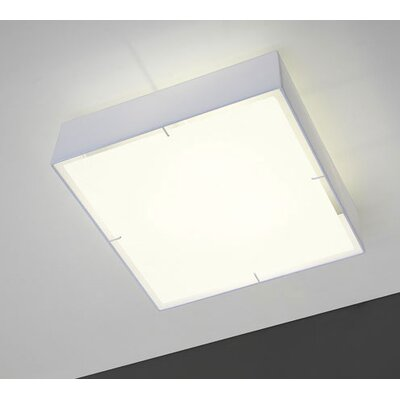 Blauet Zenit Square Flush Mount in White
