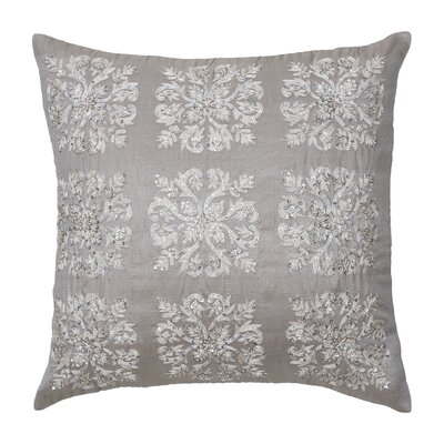 Modern Living Emery Polyester Damask Embroidered Sequin Decorative Pillow