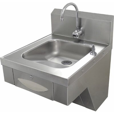 "Advance Tabco Hands Free 20"" x 24"" Hand Sink with Faucet"