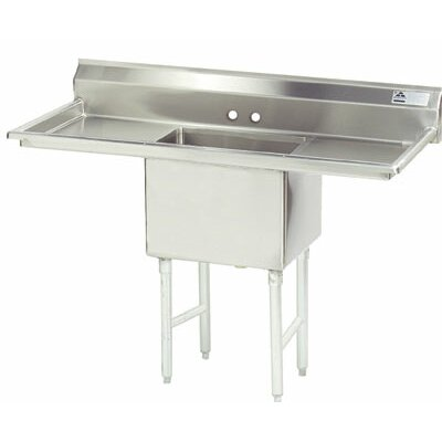 Advance Tabco Fabricated Bowl 1 Compartment Scullery Sink