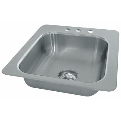 Advance Tabco Seamless Bowl 1 Compartment Drop-in Sink