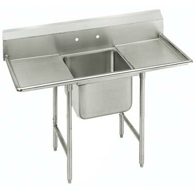 "Advance Tabco T-9 Series 54"" x 27"" 1 Compartment Scullery Sink"