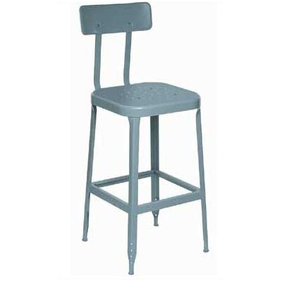 Lyon Workspace Products Stool with Mid Back Support and Footrest