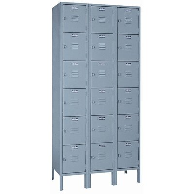 Lyon Workspace Products Set-up 6 Tier - 3 Wide Locker