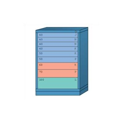 "Lyon Workspace Products Counter High Standard Cabinet with 9 Drawers: 30"" W x 28 1/4"" D x 44 1/4"" H"