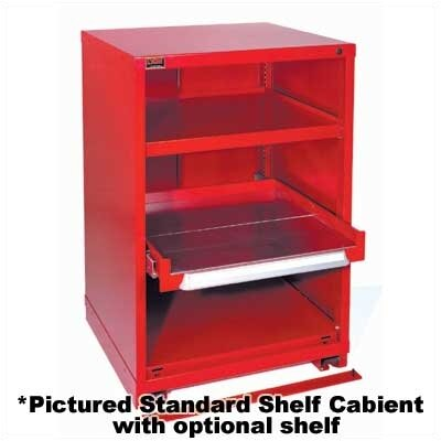 "Lyon Workspace Products Table High Slenderline Shelf Cabinet: 22 3/4"" W x 28 1/4"" D x 30 1/8"" H"
