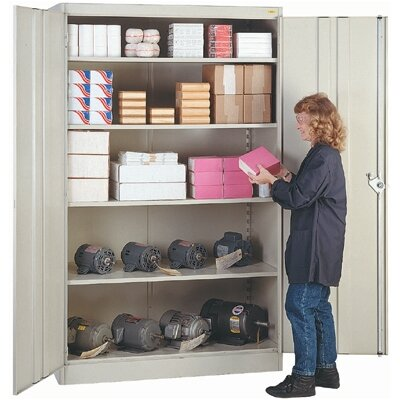 "Lyon Workspace Products 1000 Series 48"" Wide Storage Cabinet: 78"" H  x 48"" W x 24"" D"