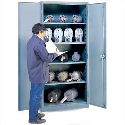 "Lyon Workspace Products All-Welded Storage Cabinet with 4 Shelves: 78 "" H x 36"" W x 21"" D"