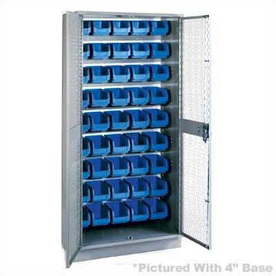 "Lyon Workspace Products All-Welded Visible Storage Cabinet with 45 Bins and 4"" Base: 72"" H x 36"" W x 18"" D"