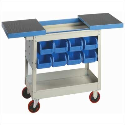 "Lyon Workspace Products Service Cart: 32"" H x 16"" W x 30"" D"
