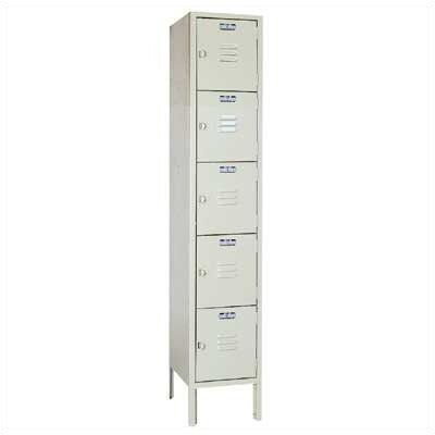 Lyon Workspace Products Five Tier Locker - 1 Section (Unassembled)
