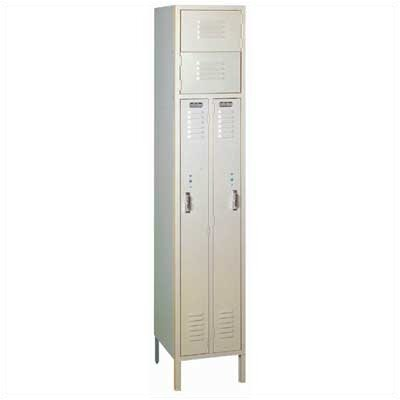 Lyon Workspace Products Two Person Locker - 1 Section (Unassembled)