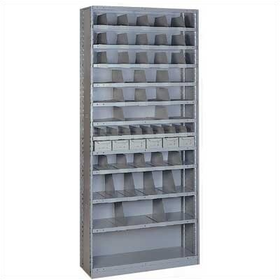Lyon Workspace Products Sliding Shelf Shelving - 52 Opening Unit