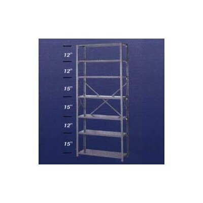 "Lyon Workspace Products 8000 Series Open Shelving - 7 Shelves: 84"" H x 36"" W x 24"" D"