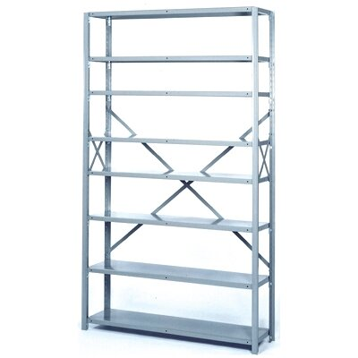 "Lyon Workspace Products 8000 Series 42"" Wide Open Shelving - 8 Heavy-Duty Shelves: 84"" H x 42"" W x 18"" D"