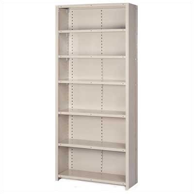 "Lyon Workspace Products 8000 Series Closed Shelving - 7 Shelves: 84"" H x 48"" W x 18"" D"