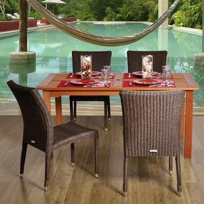 International Home Miami Atlantic 5 Piece Dining Set