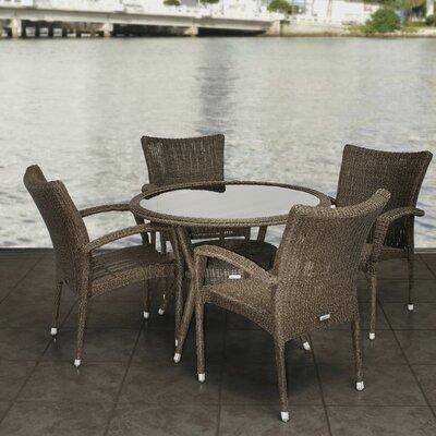 International Home Miami Atlantic 5 Piece Dining Set