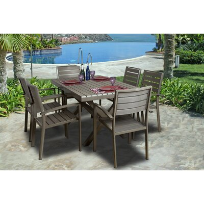 International Home Miami Malmo 7 Piece Dining Set