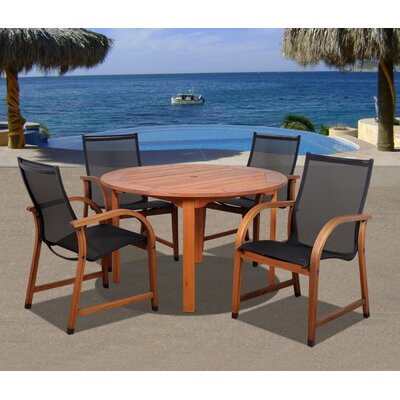 International Home Miami Amazonia Jersey 5 Piece Dining Set