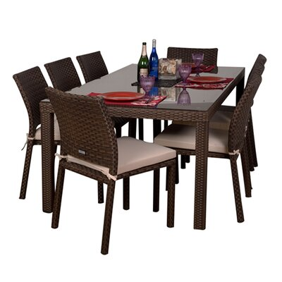 International Home Miami Atlantic Liberty 9 Piece Dining Set