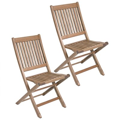 <strong>International Home Miami</strong> Amazonia Ipanema Folding Dining Side Chairs (Set of 2)