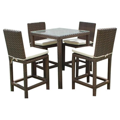 International Home Miami Atlantic 5 Piece Bar Height Dining Set