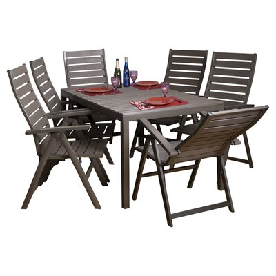 International Home Miami Stockholm 7 Piece Dining Set
