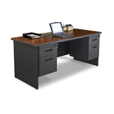 "Marvel Office Furniture Pronto 66"" Double Pedestal Computer Desk"